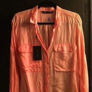 Zara fluorescent pink blouse size M